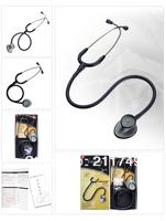 Free shipping Double Side 3M Littmann Lightweight II S.E.Stethoscope Professional, medical Stethoscope Black Tube, 28 inch, 2450