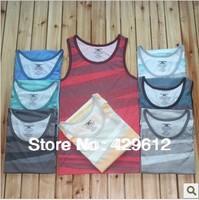 Free shipping fashion Men's sleeveless cotton tank tops 35% cotton 65% polyurethane New 1pc many colors 2013