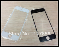 100pcs/lot high quality  For iphone5  Front Screen Glass cover Lens Repair Replacement parts Black White DHL free shipping