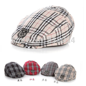 (20 Colors) 2015 Spring Autumn Cute Plaid Kid Toddler Infant Boy's Baby Girls Hat Casquette Peaked Baseball Beret Cap for 0-3T