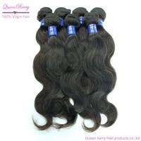 Cheapest Queen berry hair producsts unprocessed virgin peruvian body wave 3 pcs lot  hair grade aaaa grade eurisian hair women