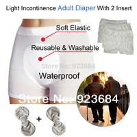 Reusable Adult Incontinence Diaper Nappy Pants or Adult Cloth Diapers Nappies 1pcs Diaper + 2pcs Insert  (AD-02)