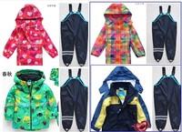 Girls Clothing Sets Retail Trade Topolino Explosion Models Boy Child Suit (green Dinosaur Jacket + Bib) free Shipping In Stock