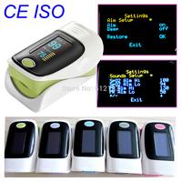 FDA CE finger pulse oximeter SPO2 PR monitor OLED display \waveform 6 Display Modes Blood Oxygen Monitor