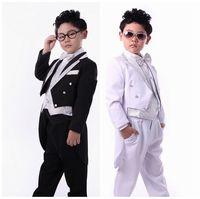 Free shipping children's  tuxedo baby boys wedding dresses  boys tailcoat for birthday party  6 set good quality