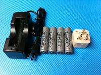 4Pcs/set  High Powerful  Battery  4200mAh 18650 Battery + Charger  For Cree T6  Flashlight  Q5 Torch  Lantern  Free Shipping