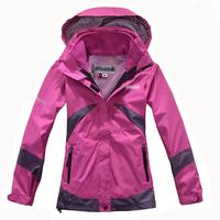 FS-0396 Wholesale Women Outdoor Ski-Wear Mountaineering Jacket Waterproof Two-Piece SportsWear Pink Yellow Green  Blue XL,XXL
