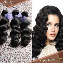 3bundle Brazilian Human Hair weave Loose wave Brazilian virgin hair weft natural color Quality Hair weaving,fast free shipping(China (Mainland))