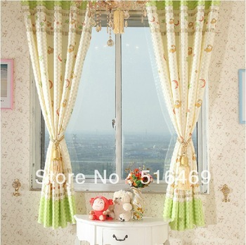 1M /PCS A variety of sizes curtains pastoral style curtains short curtain children's bedroom, den decorations curtains for kids