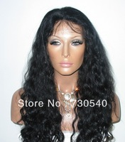 Malaysia human hair fashion body wavy Full Lace Non-Glue Wig130%&180%density available For black women-- DHL Freeshipping(239)