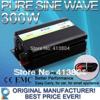 HOT SALE  Cigarette Lighter Gift  300W Off Grid Inverter Pure Sine Wave Inverter DC12V or 24V or 48V input, Solar Power Inverter