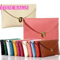 2015 Hot selling vintage bag chain envelope bag women's handbag day clutch candy color messenger bag #MST13027