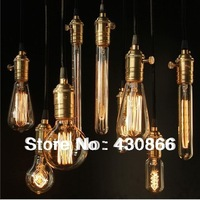 Hot selling!!Wholesale Edison silk light bulb+electrical wire+lamp holder vintage bar coffe pendant light 110V220Vfree shipping