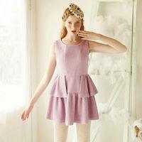 On Sales Free Shipping Dresses New 2014 Autumn Cocktail Sleeveless Women Dress Party Elegant Lavender S M Plus Size Z25084