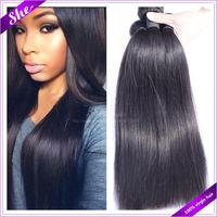 She brazilian virgin hair straight 3pcs free shipping,6A brazilian straight hair weaves,soft brazilian hair human hair extension
