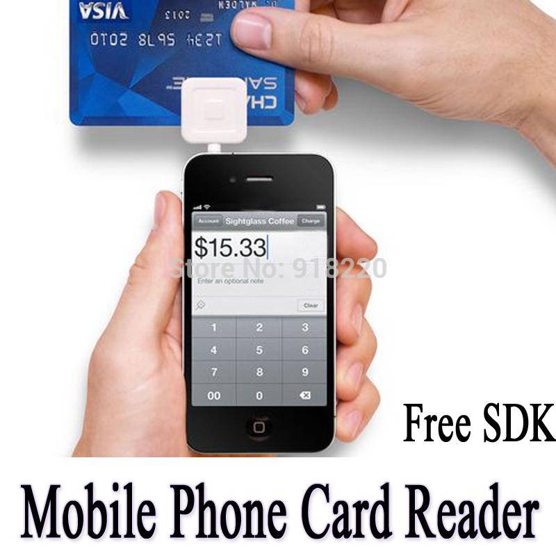 Envío gratuito móvil de débito y de crédito lector de tarjetas para android apple ios, 3.5mm( blanco)