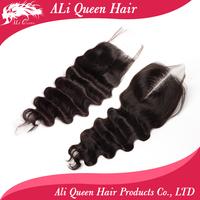 "Brazilian lace closure wave hair  Lace Top Closure(4""*4"")  wave,8""-18"" natural Color"