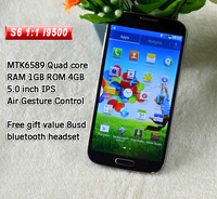 5.0 inch NO.1 S6 Gesture and eye sensing Quad Core MTK6589T  Andriod 4.2 OS 1GB/4GB ROM 1.2GHz Dual Camera 13.0MP 1:1 S4 phone