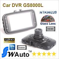 "Car DVR GS8000 Blackview camera Oringnal Novatek GS8000L 1920*1080P 25fps 120 wide Angle 2.7"" LCD G-Sensor HDMI Retail Box"