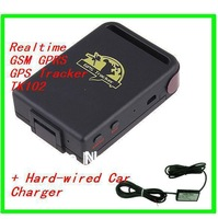 TK102B + TF card slot SPY Realtime Mini GPS Tracker GPS/GSM/GPRS With Hard Wire Car Charger
