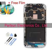 100% gaurantee original LCD For Samsung Galaxy SIV S4 i9505 With Touch screen + Frame+ Assembly  White or  Blue Color