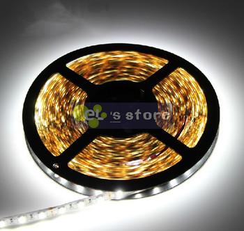 Best price ! 5m 300LED 5050 SMD 12V Flexible light 60LEDs/M LED strip, white/warm white/blue/green/red/yellow