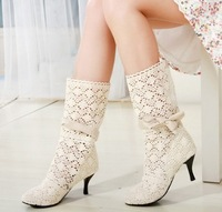 Free Shipping Wholesale Fashion women's cut-outs Boots  Spring and Summer Boots for woman High -heeled Shoes