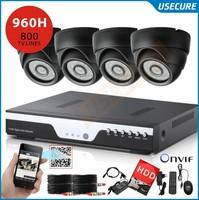 4ch CCTV System DVR 800TVL IR weatherproof Cameras 4channel 960H DVR Recorder,HDMI 1080p DVR NVR HVR Kit+Free Shipping