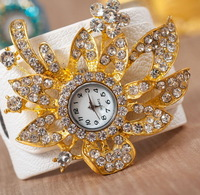 luxury Designers Flower  Shape Wristwatches 2013  fashion Bohemia Brilliant rhinestone bracelet  watch for women  A15