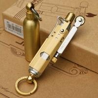 Retro copper/steel material kerosene Men's cigarettes lighter,Vintage oil lighter grinding wheel