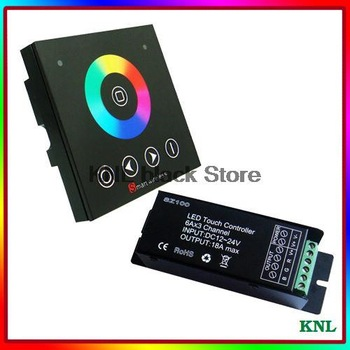 New!Led RGB controller wireless RF touch remote control, wall-mounted touch panel controller switch, DC12-24V, free shipping