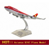 Free Shipping!Wholesale B747 Aviance aircraft airplane model,16cm metal airlines plane model,prototype machine,Christmas gift