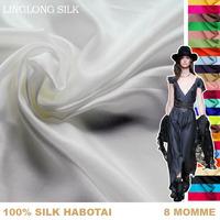 Free shippig/[Silk habotai]8m/m/Width-114cm/100% pure mulberry silk fabric/Wholesale classic white color/3 meters/lot