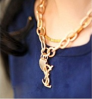 New luxury fashion Famous Brand Jewelry Alloy drill Chunky Chain Necklace FreeShipping/Wholesale 14-5-17