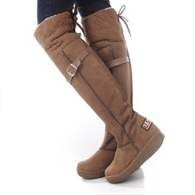 free shipping ,Knee-high winter boots,Slip-On Faux suede boots for women,women's winter long boots,knee high snow boots,XWX263(China (Mainland))