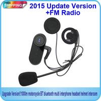 Free Shipping!!!Updated Version !! BT Bluetooth Motorcycle Helmet Intercom Interphone Headset