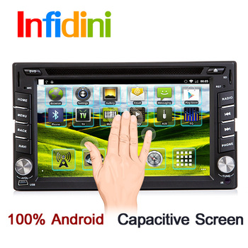 Android 3g WiFi universal 2 two Din Car DVD player with GPS Navigation audio Radio stereo,Bluetooth/TV,Capacitive screen+Camera