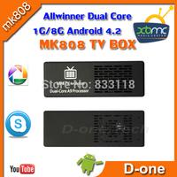 Free Shipping Original MK808 MK808B Android 4.2 Rockship RK3066 Dal Core Dvb T2 1GB 8GB XBMC Skype wifi android TV Box mini pc