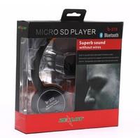 Free Shipping!  Superb sound b-370 Bluetooth Headset,Wireless Headphone,TF Card/FM radio/MP3 Play,Hands free Calls,6 Colors