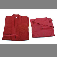 High Quality Kendo Uniform Set Kendogi and Hakama Red-Free Shipping
