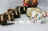 Mini Wallet PU leather key chain flower souvenir bag keychain more styles for women men gift
