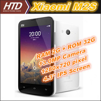 Original XiaoMi M2S 4.3 Inch Quad Core 1.7GHz  Android 4.1 Multi-language Phone with Free Phone Case Free Shipping