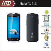 Haier W718 4.0 Inch 1024MHz MT6575 Dual Sim  CPU 3-proof  Android 4.0 Smart Phone with Free Phone Case Free Shipping