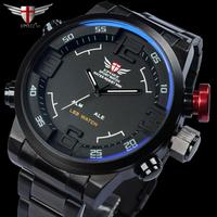 2014 Relojes deportivo para hombres multifuncional resistente al agua waterproof military mens full steel sports watches montre