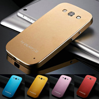 Without Screw Ultrathin Aluminum Metal Hard Case for Samsung Galaxy S3 i9300 SIII Phone Cover Luxury Matte, Free Screen Film