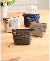New Vintage Zipper Coin Purse wallets Mini bag Bolsas Bolsos Free shipping