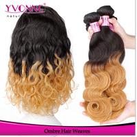 Ombre Hair Extension,Grade 5A Body Wave Peruvian Hair,14-24 Inches Remy Human Hair, 3Pcs/lot Aliexpress Yvonne Hair
