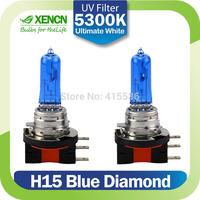 XENCN H15 12V 55/15W 5300K Blue Diamond Light Xenon Ultimate White day time running light Car Headlight Replace Upgrade Bulb