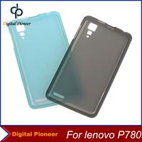 1PCS,Colorful Soft TPU Cover Case For Lenovo P780 Case,Gray/Light Blue