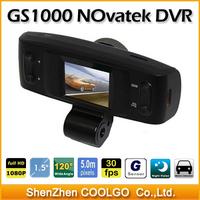 100% Original GS1000 NOVATEK Chipset FHD 1080P Lens Car vehicle Camera Recorder DVR w/G-sensor/4pcs LED/1.5' LCD/GS1000B